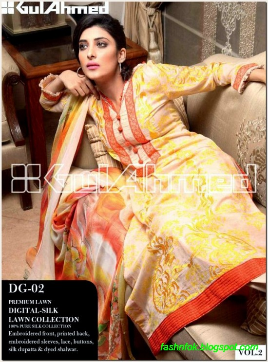 Gul-Ahmed-Lawn-Vol-2-Spring-Summer-New-Fashionabe-Clothes-Dress-Designs-Collection-2013-3