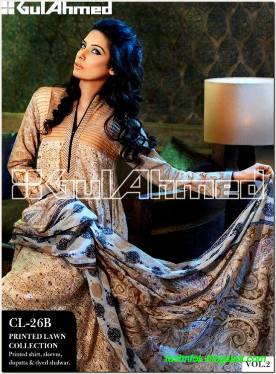 Gul-Ahmed-Lawn-Vol-2-Spring-Summer-New-Fashionabe-Clothes-Dress-Designs-Collection-2013-5