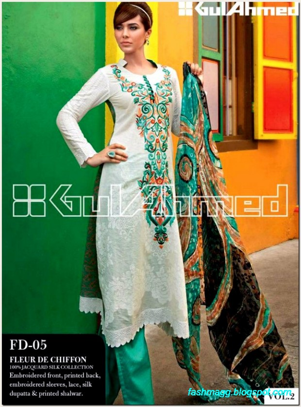 Gul-Ahmed-Lawn-Vol-2-Spring-Summer-New-Fashionabe-Dress-Designs-Collection-2013-14