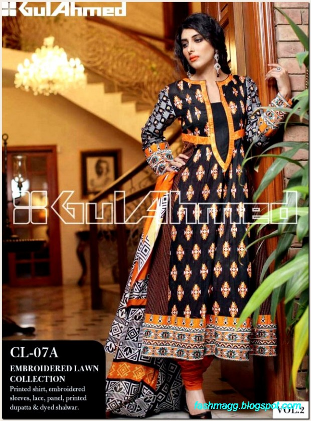 Gul-Ahmed-Lawn-Vol-2-Spring-Summer-New-Fashionabe-Dress-Designs-Collection-2013-2