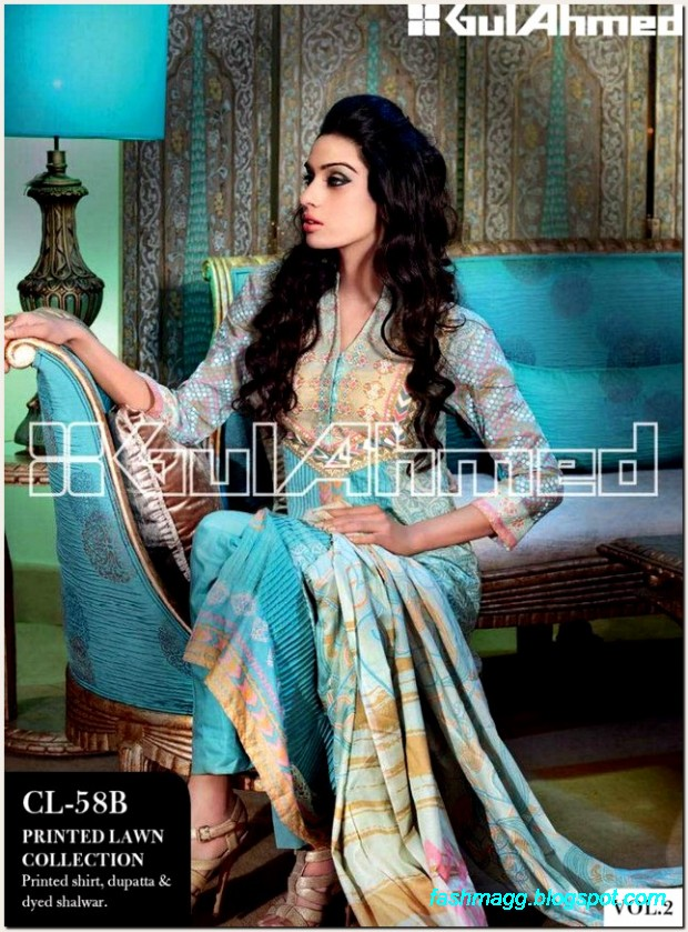 Gul-Ahmed-Lawn-Vol-2-Spring-Summer-New-Fashionabe-Dress-Designs-Collection-2013-3