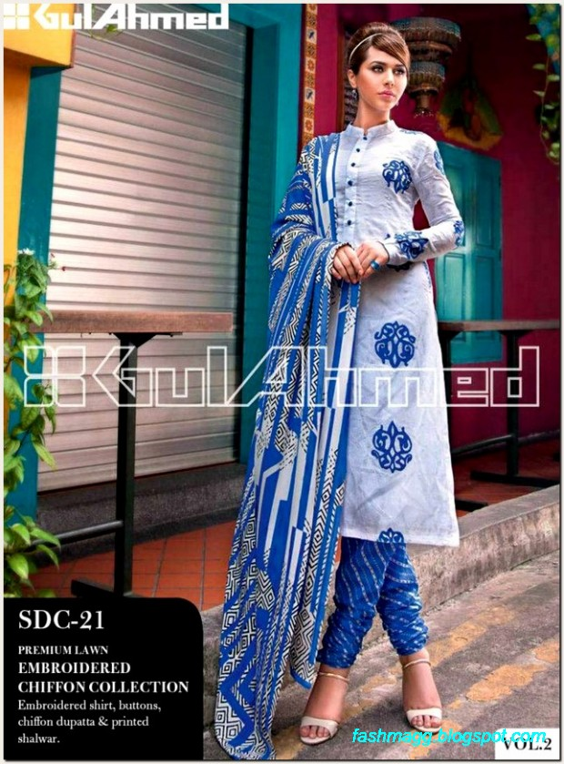 Gul-Ahmed-Lawn-Vol-2-Spring-Summer-New-Fashionabe-Dress-Designs-Collection-2013-9