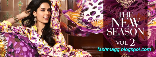 Gul-Ahmed-Lawn-Vol-2-Spring-Summer-New-Fashionabe-Dress-Designs-Collection-2013-