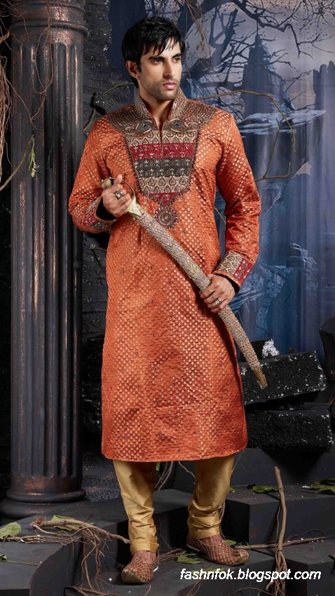 Kurta-Designs-Men-Male-New-Latest Silk-Kurta-Style-Design-2