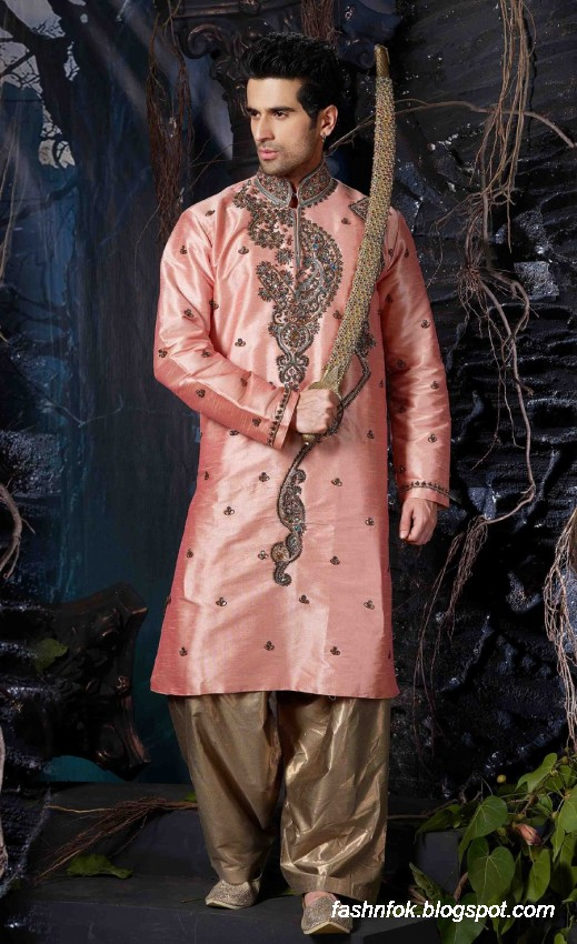 Kurta-Designs-Men-Male-New-Latest Silk-Kurta-Style-Design-