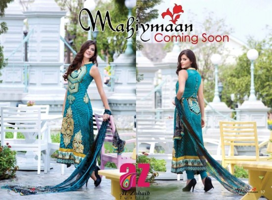 Mahiymaan-Lawn-Collection-2013-By-Al-Zohaib-Textiles-New-Latest-Fashionable-Clothes-5
