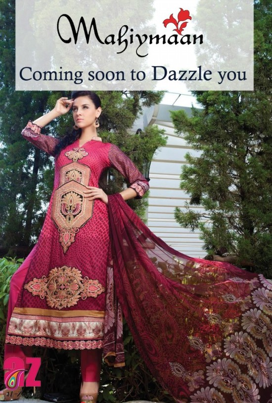 Mahiymaan-Lawn-Collection-2013-By-Al-Zohaib-Textiles-New-Latest-Fashionable-Clothes-