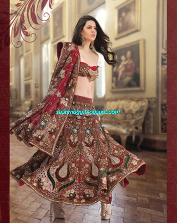 Indian-Beautiful-Bridal-Lehenga-Choli-Dress-for-Brides-Wear-New-Fashionable-Dress-Design-2013-3