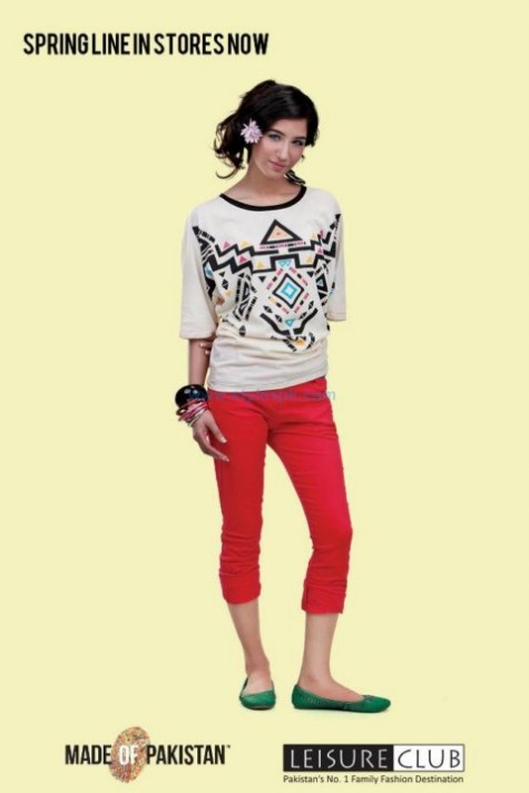 Leisure-Club-Spring-Summer-T-Shirts-and-Tights-Jeans-Collection-2013-For-Boys-Girls-1