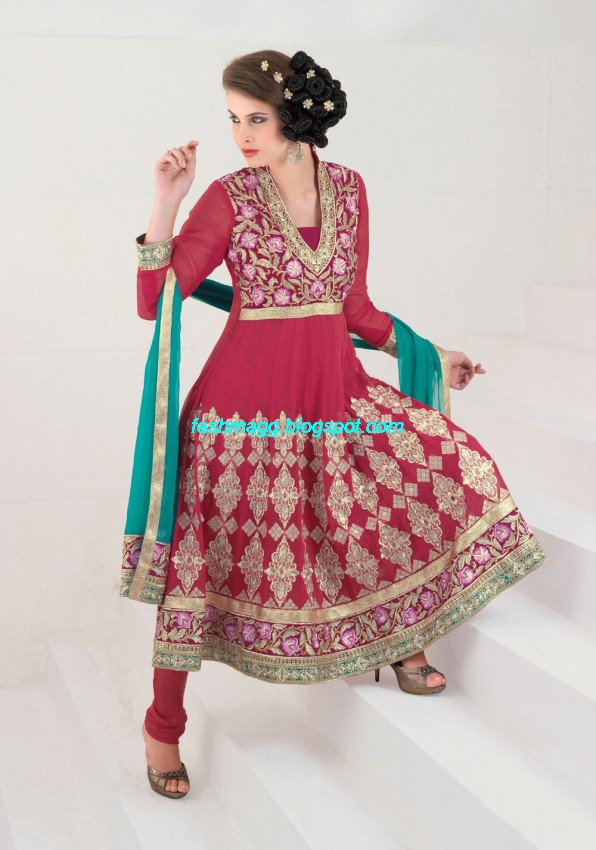 Anarkali-Fancy-Bridal-Wear-Frocks-Anarkali- Embroidered-Wedding-Frock-New-Fashionable-Dress-4