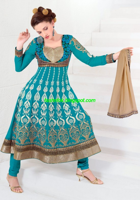 Indian-Anarkali-Umbrella-Frocks-2013-Anarkali-Churidar-Salwar-Kameez-New-Fashionable-Clothes-9