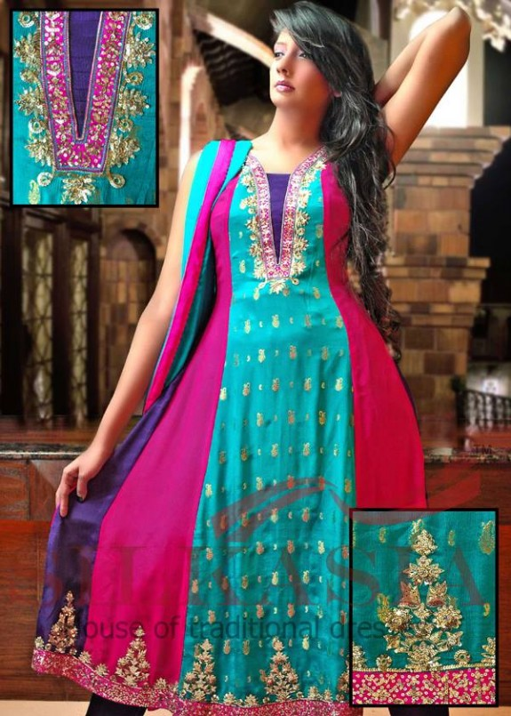 Fantastic Silkasia Indian-Pakistani Bridal-Wedding-Casual And Formal Wear Dress Designs 2013 - She9 Kids