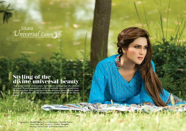 Sitara-Universal-Exclusive-Summer-Latha-Lawn-Collection-2013-Vol2-Famous-Actress-Model-Fiza-Ali-10