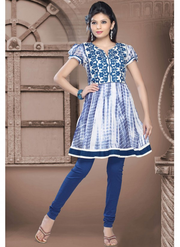 Womens Girls Summer Kurti Kurta With Tights And Jeans Eid
