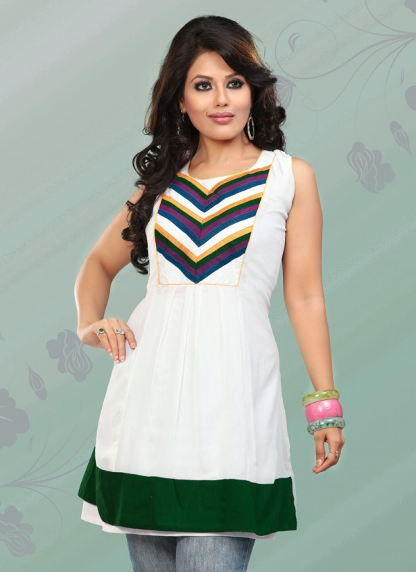 Womens-Girls-Summer-Kurti-Kurta-with-Tights-Jeans-Collection-2013-New-Fashionable-Dress-4