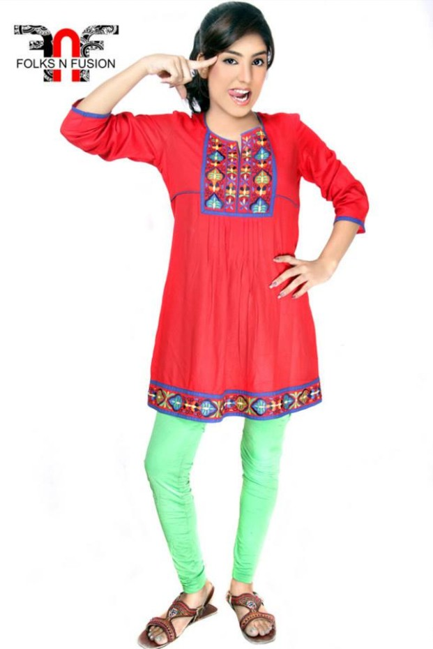 Folks N Fusion Tops-Kurti and Tights Fashion for Girls-Womens3
