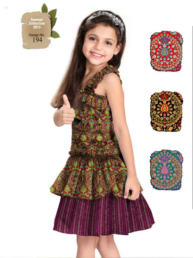 Kids-Childrens-Summer-Casual-Party-Wear-Dresses-Collection-2013-By-Al-Hamra-Fabric-2