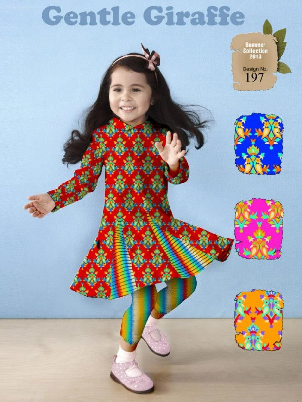 Kids-Childrens-Summer-Casual-Party-Wear-Dresses-Collection-2013-By-Al-Hamra-Fabric-6