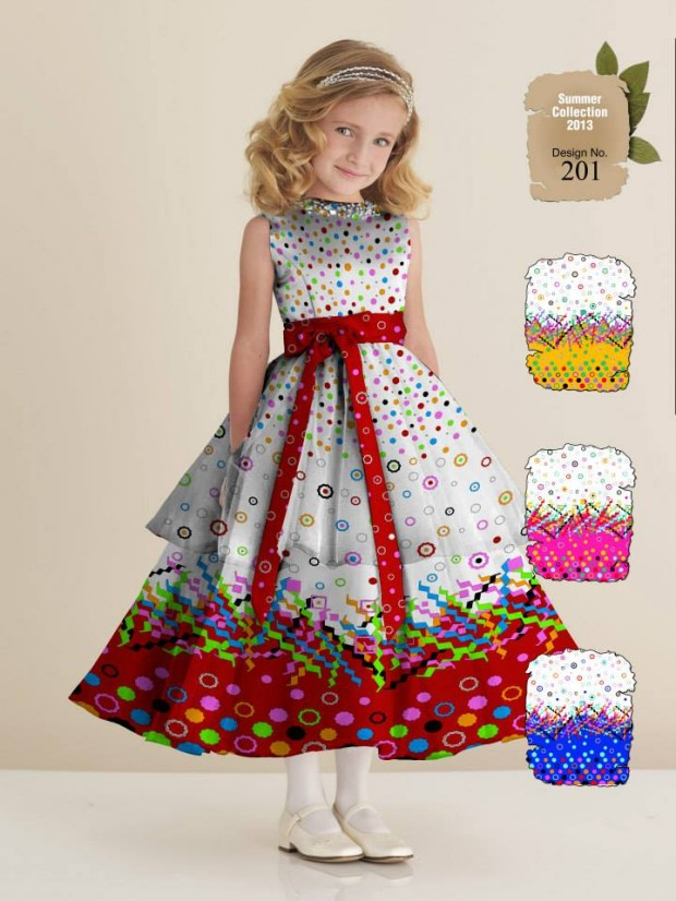 Kids-Childrens-Summer-Casual-Party-Wear-Dresses-Collection-2013-By-Al-Hamra-Fabric-8