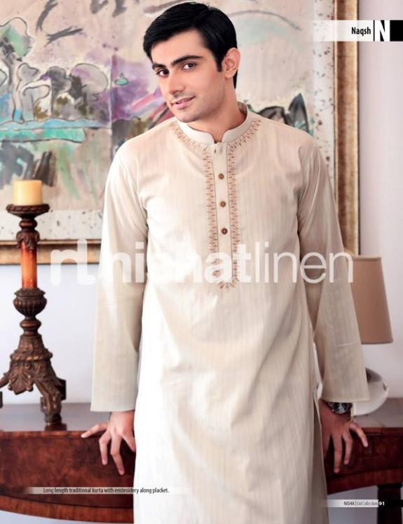 Naqsh-by-Nishat-Linen-Mens-Male-Wear-Kurta-Pajama-Shalwar-Kameez-Eid-Collection-2013-5