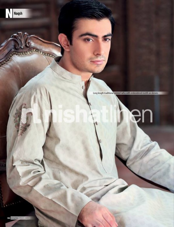 Naqsh-by-Nishat-Linen-Mens-Male-Wear-Kurta-Pajama-Shalwar-Kameez-Eid-Collection-2013-9