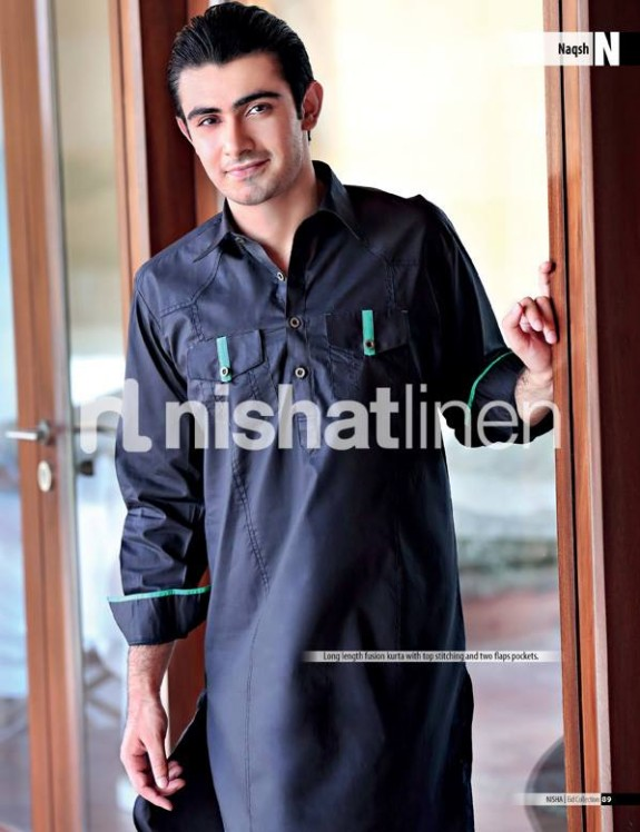 Naqsh-by-Nishat-Linen-Mens-Male-Wear-Kurta-Pajama-Shalwar-Kameez-Eid-Collection-2013-