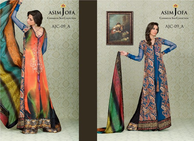 Asim-Jofa-Charmeuse-Beautiful-Silk-Eid-Fashionable-Dress-2013-For-Women-Girls-1