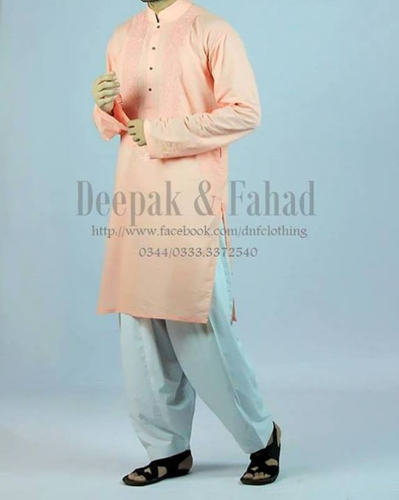 Mens-Boy-New-Summer-Eid-Dress-Kurta-Kamiz-Salwar-Pajama-2013-by-Deepak-Fahad-10