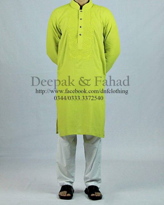 Mens-Boy-New-Summer-Eid-Dress-Kurta-Kamiz-Salwar-Pajama-2013-by-Deepak-Fahad-12