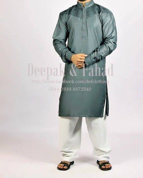 Mens-Boy-New-Summer-Eid-Dress-Kurta-Kamiz-Salwar-Pajama-2013-by-Deepak-Fahad-14