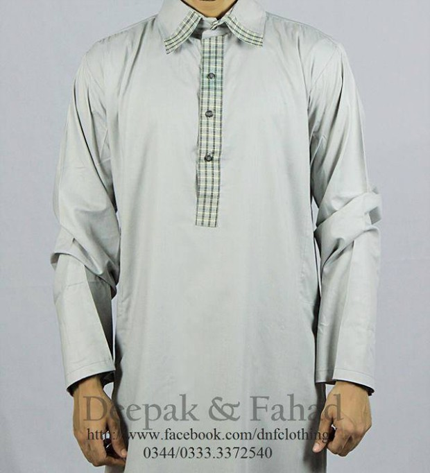 Mens-Boy-New-Summer-Eid-Dress-Kurta-Kamiz-Salwar-Pajama-2013-by-Deepak-Fahad-5