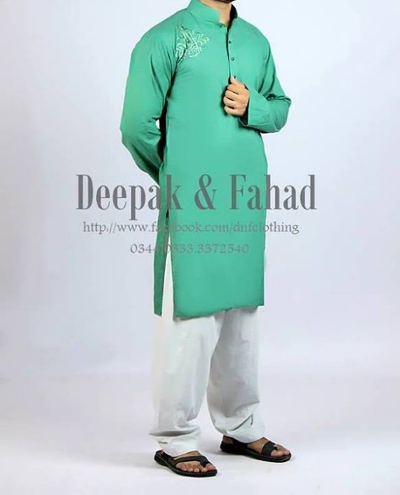 Mens-Boy-New-Summer-Eid-Dress-Kurta-Kamiz-Salwar-Pajama-2013-by-Deepak-Fahad-7