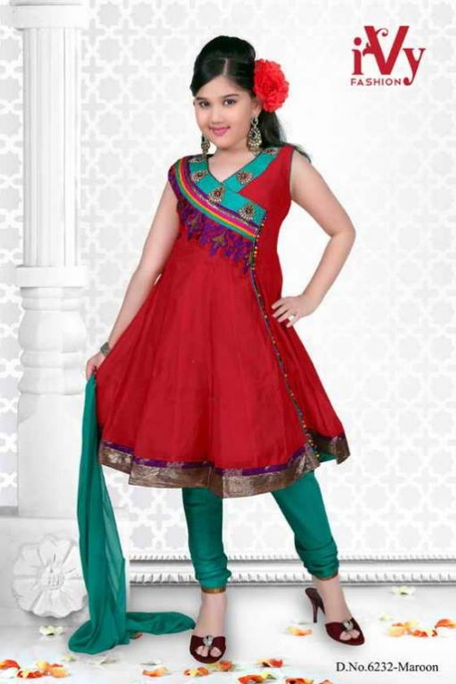 Trade-india-Summer-Anarkali-Beautiful-Cute-Eid-Dresses-2013-For-Kids-Childrens-12
