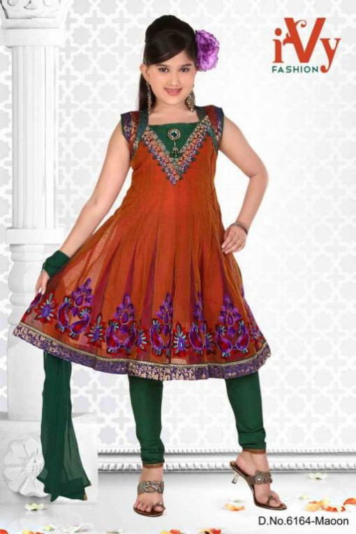 Trade-india-Summer-Anarkali-Beautiful-Cute-Eid-Dresses-2013-For-Kids-Childrens-8
