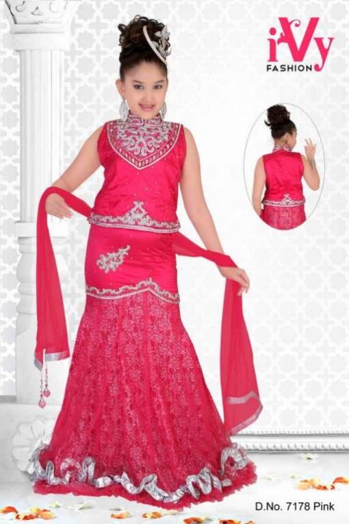 Trade India Beautiful Anarkali Kids Wear Summer Eid Frocks