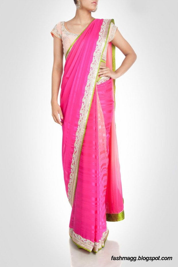 Beautiful-Elegent-New-Indian-Silk-Embroidered-Saree-Design-2013-for-Girls-9