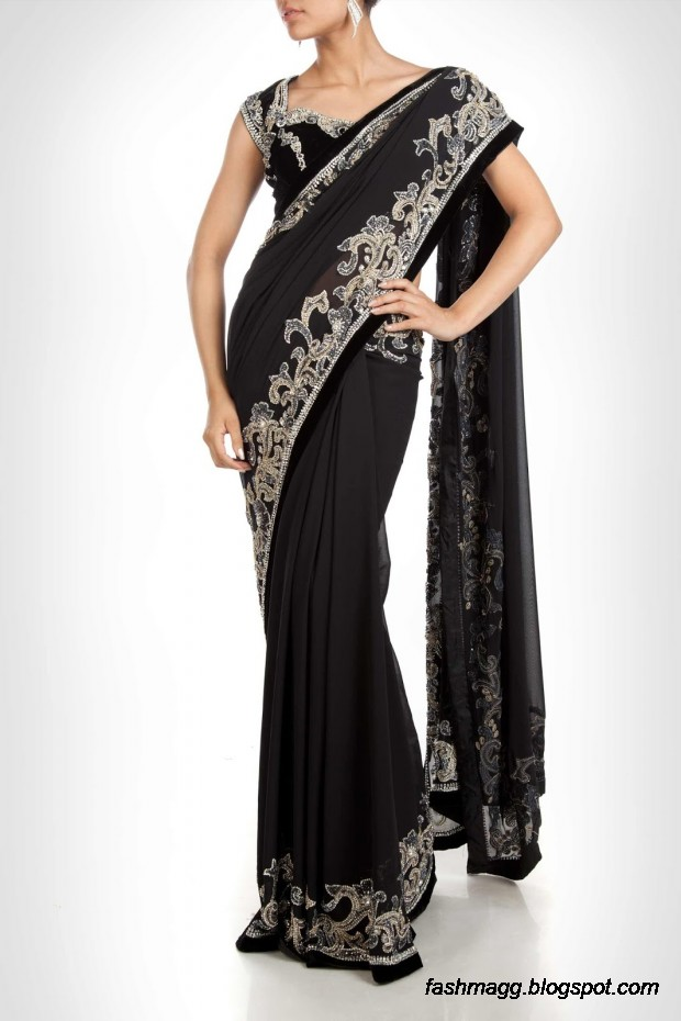 Beautiful-Elegent-New-Indian-Silk-Embroidered-Saree-Design-2013-for-Girls-