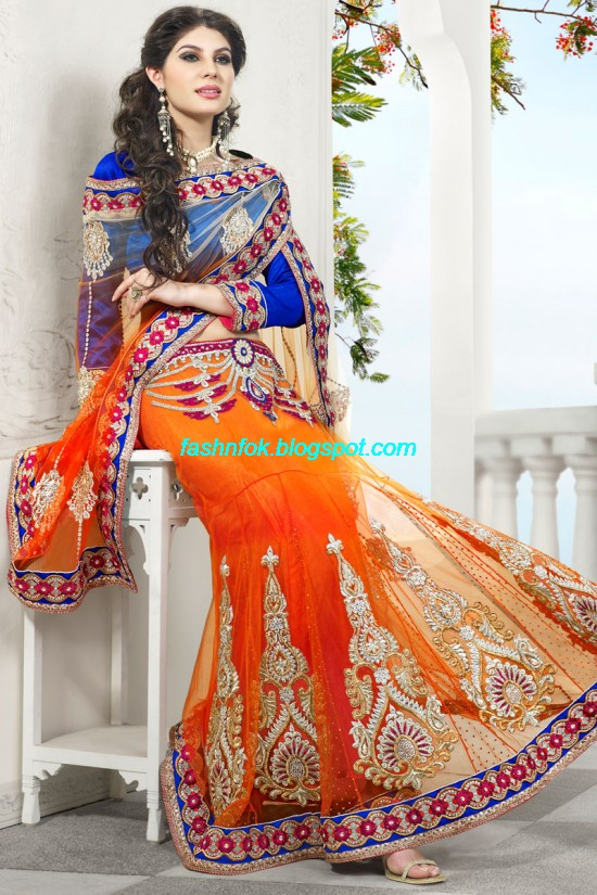Indian-Brides-Bridal-Wedding-Fancy-Embroidered-Saree-Design-New-Fashion-Hot-Sari-Dress-1