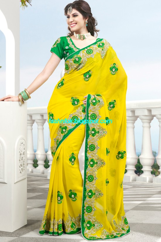 Indian-Brides-Bridal-Wedding-Fancy-Embroidered-Saree-Design-New-Fashion-Hot-Sari-Dress-10