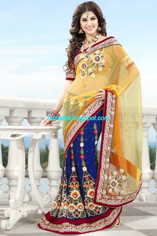 Indian-Brides-Bridal-Wedding-Fancy-Embroidered-Saree-Design-New-Fashion-Hot-Sari-Dress-11
