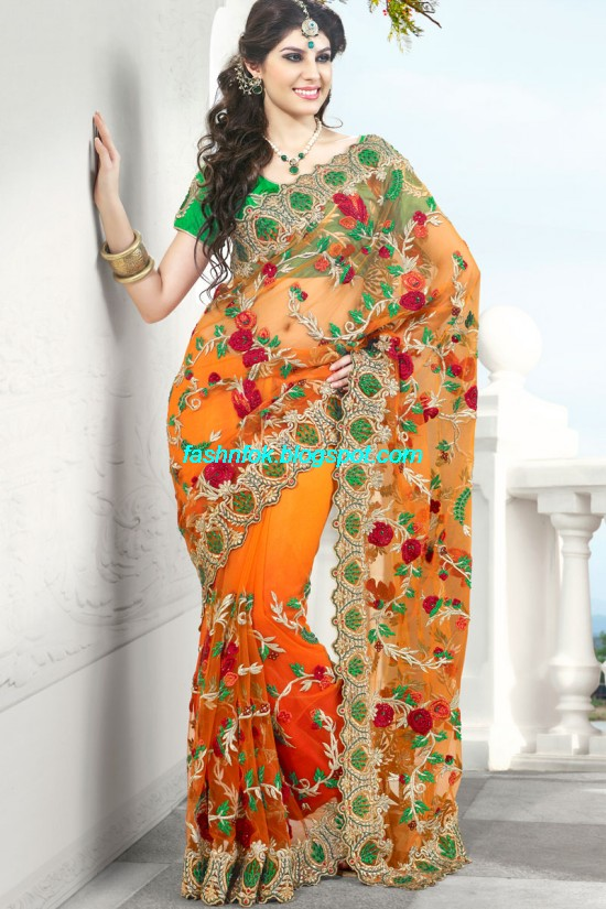 Indian-Brides-Bridal-Wedding-Fancy-Embroidered-Saree-Design-New-Fashion-Hot-Sari-Dress-12