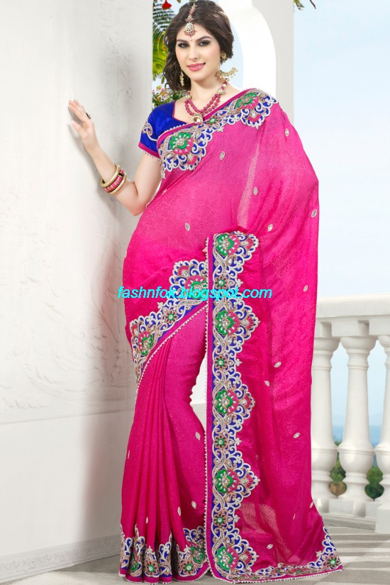 Indian-Brides-Bridal-Wedding-Fancy-Embroidered-Saree-Design-New-Fashion-Hot-Sari-Dress-13