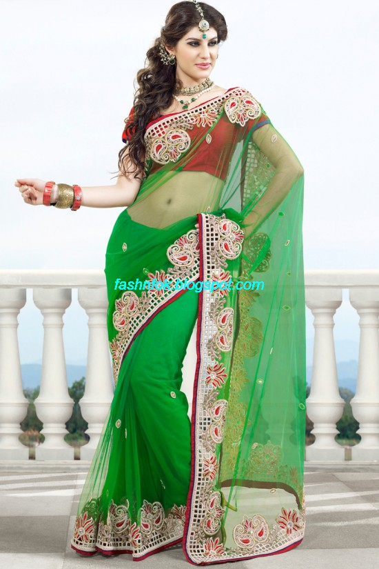 Indian-Brides-Bridal-Wedding-Fancy-Embroidered-Saree-Design-New-Fashion-Hot-Sari-Dress-14