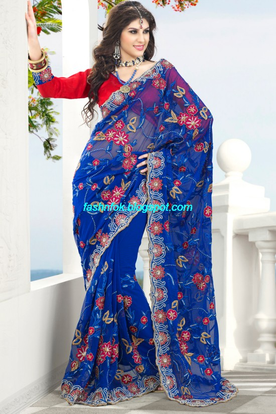 Indian-Brides-Bridal-Wedding-Fancy-Embroidered-Saree-Design-New-Fashion-Hot-Sari-Dress-16