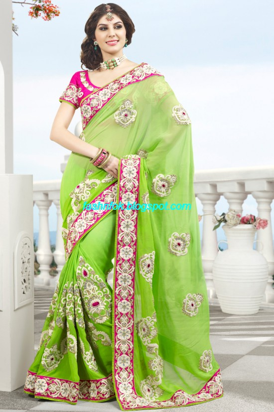 Indian-Brides-Bridal-Wedding-Fancy-Embroidered-Saree-Design-New-Fashion-Hot-Sari-Dress-17