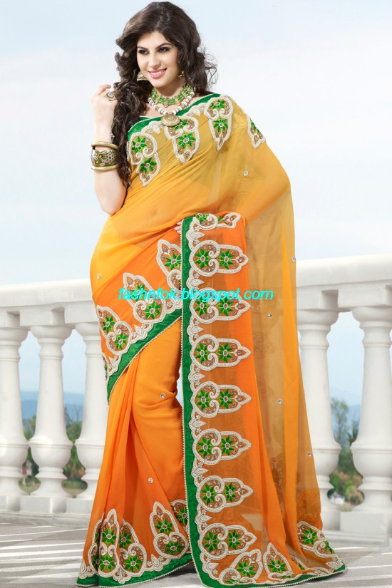 Indian-Brides-Bridal-Wedding-Fancy-Embroidered-Saree-Design-New-Fashion-Hot-Sari-Dress-18