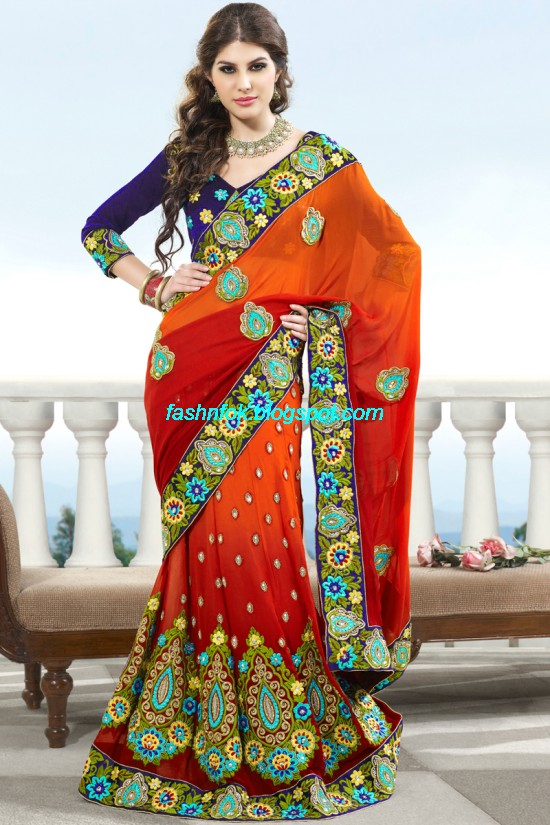 Indian-Brides-Bridal-Wedding-Fancy-Embroidered-Saree-Design-New-Fashion-Hot-Sari-Dress-2