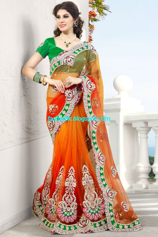 Indian-Brides-Bridal-Wedding-Fancy-Embroidered-Saree-Design-New-Fashion-Hot-Sari-Dress-3