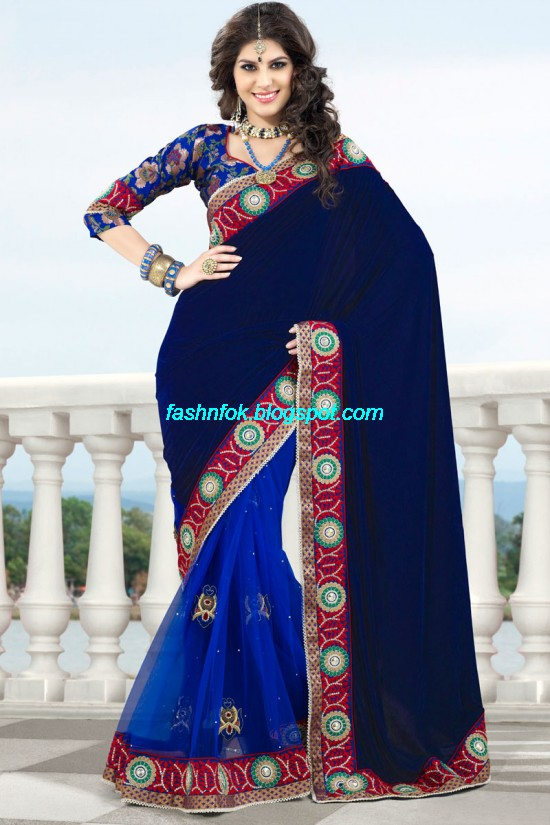 Indian-Brides-Bridal-Wedding-Fancy-Embroidered-Saree-Design-New-Fashion-Hot-Sari-Dress-4