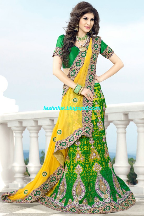 Indian-Brides-Bridal-Wedding-Fancy-Embroidered-Saree-Design-New-Fashion-Hot-Sari-Dress-6